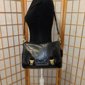 Coach Calfskin Crossbody Satchel Tote Bag BONUS
